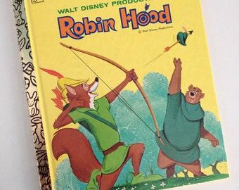 NOS - 1975 Robin Hood - Walt Disney Productions - A Little Golden Book
