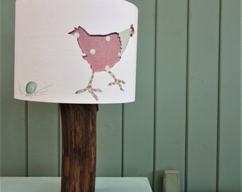 Spotty Hen Lampshade - Polka dot hen shade- Rooster lampshade  - Rustic chook cushion - Handmade Hen Cushion - Country Home Decor
