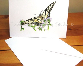 Swallowtail - Blank Butterfly Watercolor Print Greeting Card