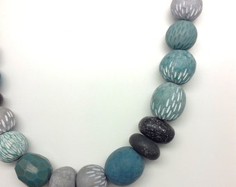One of a kind, statement necklace, inspired by nature, River rock necklace