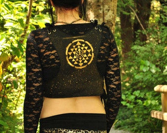 Hippie Top - Festival Top - Boho Top - Gypsy Top - Halter Top - Tank Top - Stash Pockets - Womens Top - Sacred Geometry - Festival Clothes