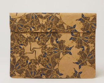Indigo & Gold Laptop Paper Sleeve