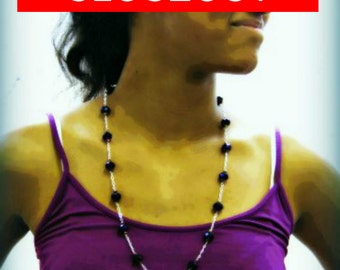 CLOSEOUT Thunder Polish Purple Czech Necklace Bracelet and Earring Set