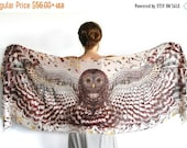 SALE Hippie Clothes, Burning Man Clothing, Coachella Clothing, Animal Scarf, Bridal Accessories, Nursing Scarf, Owl Clothing