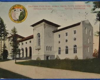 California State Building Alaska Yukon Pacific Exposition Seattle Washington Postcard 1909