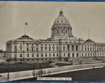 Postcard State Capitol St. Paul Minnesota Antique Divided Back 1912
