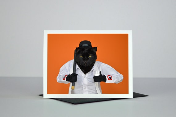 AC is Ready for Some Ultra-Violence Greeting Card