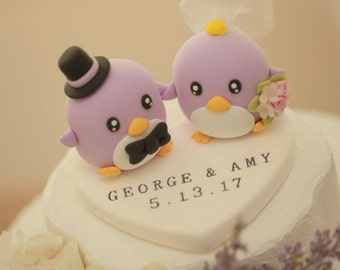 Penguins Wedding Cake Topper (K421)