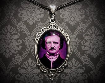 Edgar Allan Poe Necklace // Edgar Allan Poe Jewelry // The Raven // Nevermore Necklace
