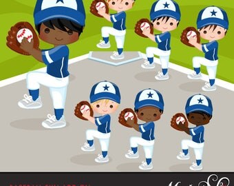 Baseball Clipart ADD ON. Baseball graphics, baseball players, baseball game illustrations, kids playing baseball, home run, african american