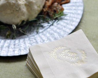 Personalized Napkins- NN Happy Harvest
