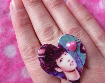 BTS Jungkook Sexy KPOP Idol Adjustable Heart Ring