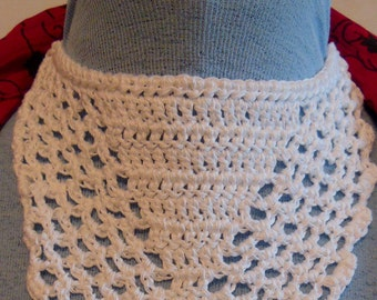 Crocheted dickeys - solid center - trach stoma cover