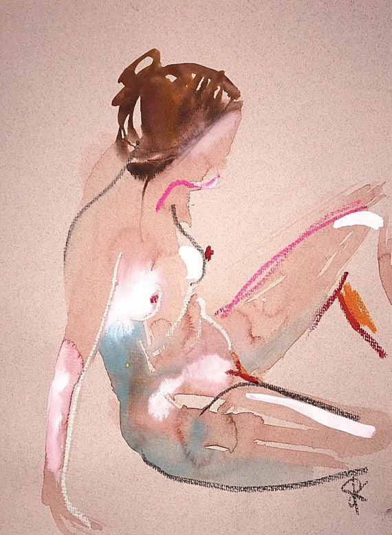 Nude painting- #1414 by Gretchen Kelly