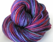 Bulky Yarn Hand Dyed Yarn Bulky Wool Yarn Single Ply Purple - Harmony