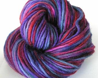 Bulky Yarn Hand Dyed Yarn Bulky Wool Yarn Single Ply Purple - Harmony