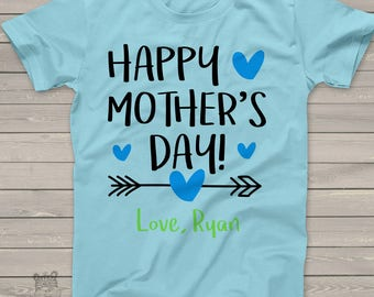 Happy Mothers Day arrow boys tshirt- sweet Mothers Day gift HMDAB