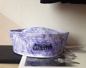 RESERVED FOR selena handpainted Jean Paul Gaultier sailor hat