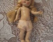 """Antique 8 """" Vogue Doll Blonde Braids 1945-1949"""