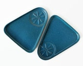 Bennington Potters Snack Plates, Mid-Century Modern David Gil, Bennington Pottery Spark Logo, Vintage Pottery Plates