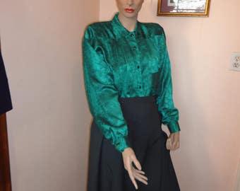 Plus Size Vintage 80's Grey Wrap Skirt Sz 18