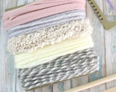 Weaving loom kit for hand weaving wall art - Yarn included