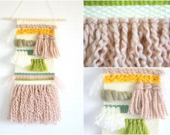Hand woven wall hanging \ weaving wall art