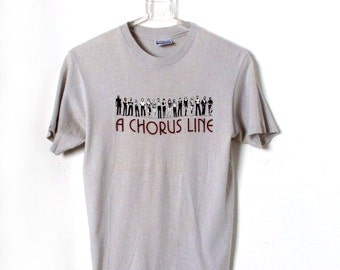 Vintage 80s A CHORUS LINE T-shirt Soft thin Hanes cotton