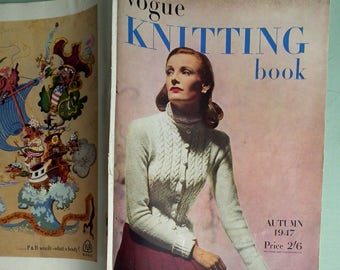 Vogue Knitting Book No. 31 Autumn 1947 - Vintage Knitting Patterns 1940s 40s original patterns