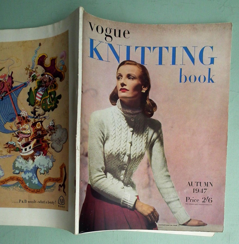 Vogue Knitting Book No. 31 Autumn 1947 - Vintage Knitting Patterns ...