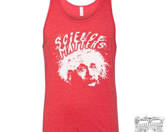 Unisex Tank Top SCIENCE Matters Tri Blend hand screen printed xs s m l xl xxl (+ Colors)