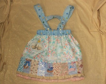 kissing bunnies dirndl skirt with detachable suspenders
