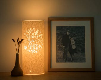 Bouquet personalized lamp