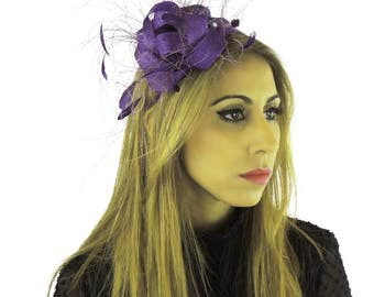 Eggplant Purple Fascinator Kentucky Derby or Wedding Hat **SAMPLE SALE