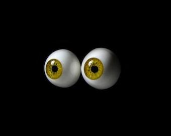 """16mm bjd eyes """"Olive"""", Bjd eyes, Doll eyes, Doll eye, Green eyes, Handmade eyes, Urethane eyes, Resin eyes, 16 mm eyes, Fantasy eyes"""