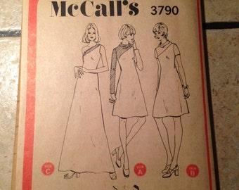 McCall's 3790 Size 10 Misses' Dress Pattern UNCUT