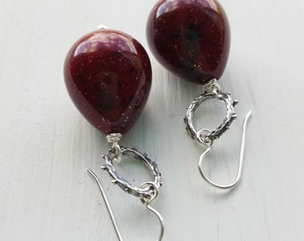 I contain multitudes - earrings - vintage lucite and sterling