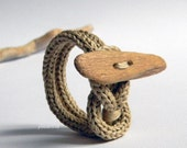 Natural bracelet. Wooden bracelet. Driftwood bracelet. Ecru beige.