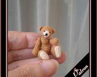 Servann micro bear amigurumi crochet pattern, digital pattern