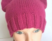 Cat Hat Kitty Cat Cap Raspberry Pink Adult Teen Womens March on Washington MADE TO ORDER Pussy Hat Project hand knit hat knitting