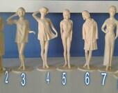 "Vintage 1964 Louis MARX ""CAMPUS CUTIES"" Playboy Sexy Type Plastic Figure Toy Dolls"