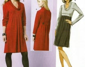 Butterick 5523 UNCUT Misses Cowl Neck Knit Pullover Dress Sewing Pattern Sizes 16-24 Bust 38 -46