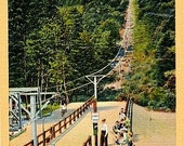 Vintage New Hampshire Postcard - The Chair Tramway to the Summit of Mount Rowe (Unused)