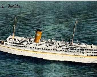 Vintage Florida Postcard - The SS Florida Nassau Cruise from Miami (Unused)
