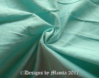 Celeste Blue Dupioni Silk Fabric By Yard, Sea Blue Curtain Making Fabric, Vintage Blue Art Silk Fabric, Bridal Silk Fabric Indian Material