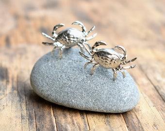 Crab Cuff Links,Silver Crab Cuff Links, Silver Cuff Links,Beach Wedding,Nautical Cuff Links,Groom Cufflinks,Sea Creature Cufflinks,Ocean Sea