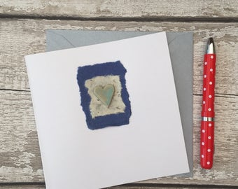Handmade card, ceramic gift card.  Blank for all occasions