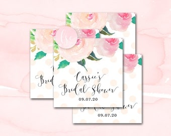 Bridal Shower Favor Tags, Printable Favor Tags, Wedding Shower Tags, Party Favor Tags, Wedding Favor Tags