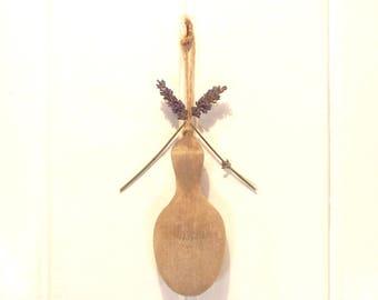 Vintage Sock Darner Wooden Foot Form Hanging Sewing Crafts Display
