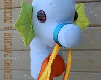 Seahorse Stick Horse Sewing Pattern and Tutorial Rustic Horseshoe's Seahorse Ride On Toy Stick Horse Hobby Horse Pattern